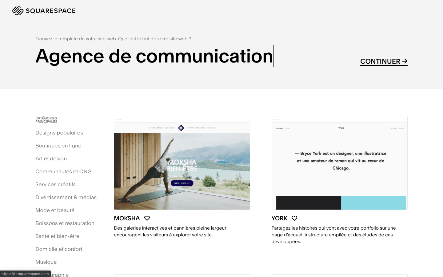 template squarespace