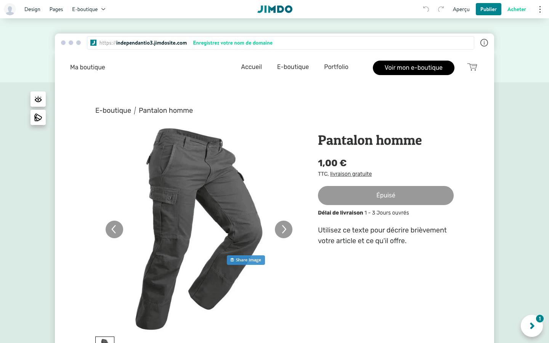 Jimdo boutique