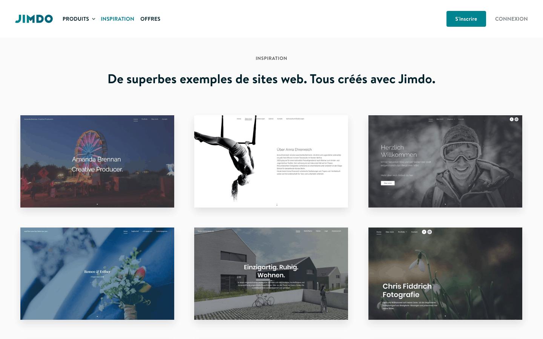 Exemples de sites