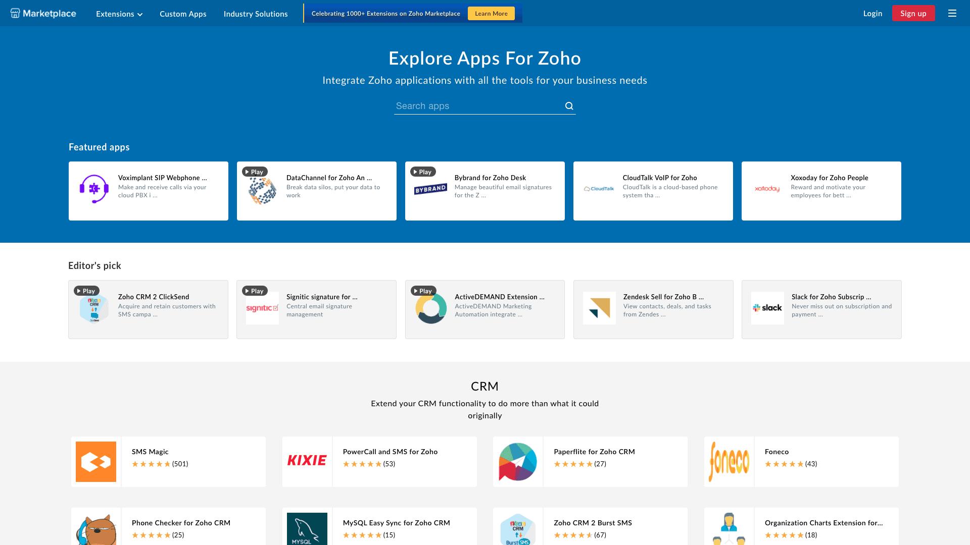 Marketplace Zoho