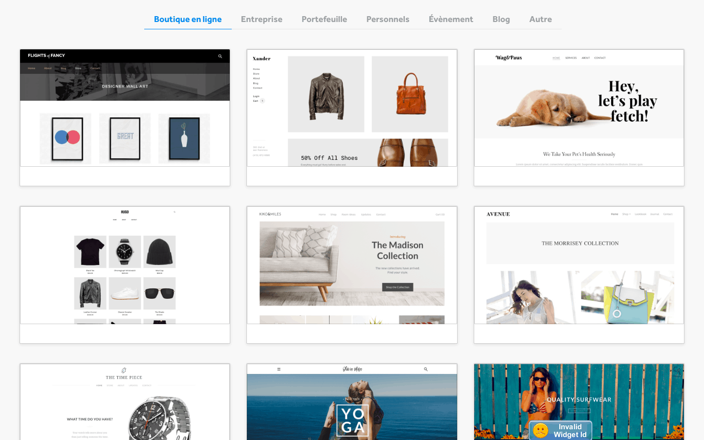 Weebly thèmes e-commerce