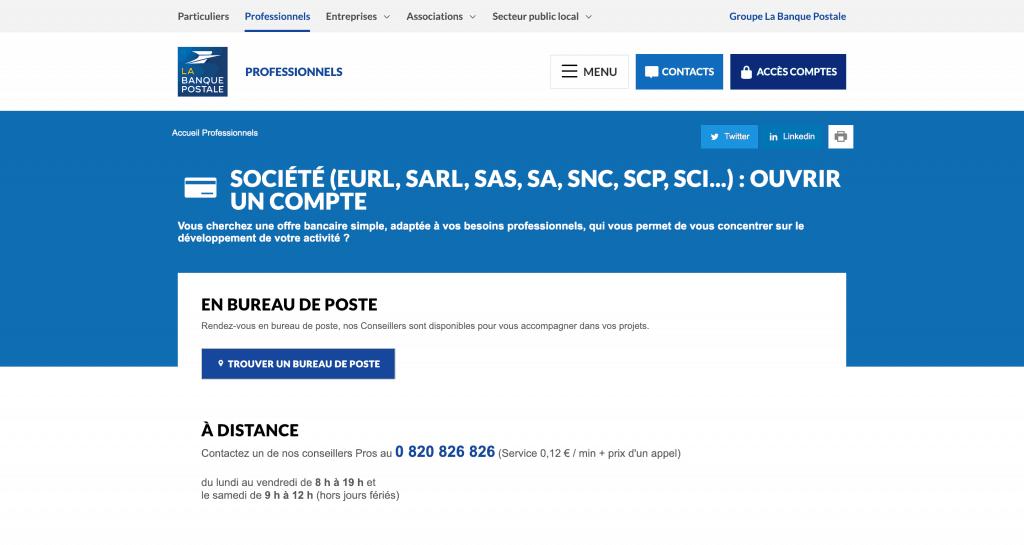 accueil La Banque Postale SCI