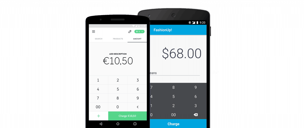 Applications iZettle et SumUp pour smartphone