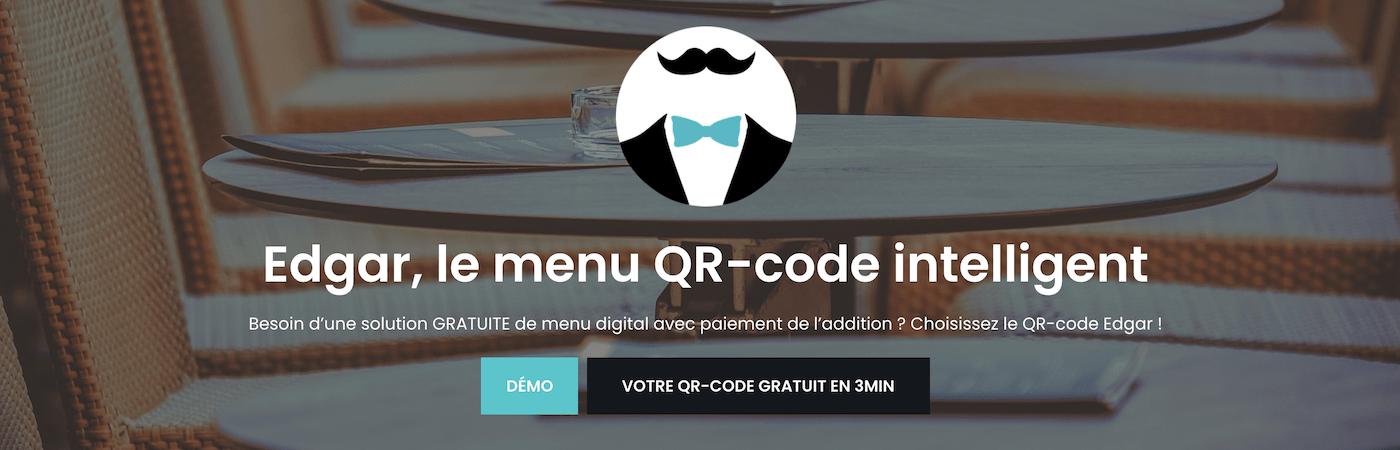 edgar menu qr code