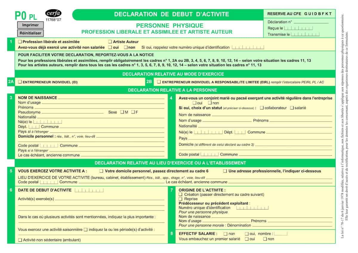 formulaire P0 PL