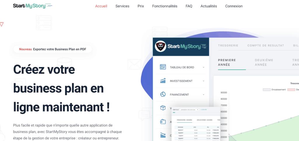 logiciel business plan en ligne startmystory