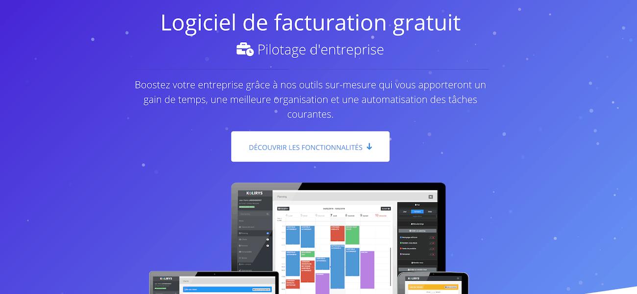 logiciel facturation gratuit auto entrepreneur Kolirys