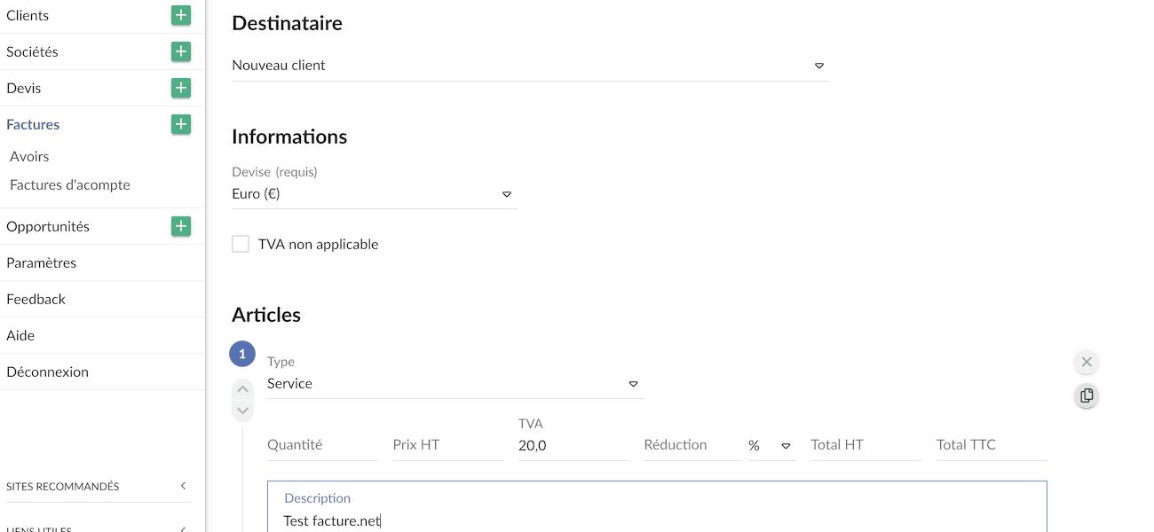 logiciel facturation ligne gratuit codeur