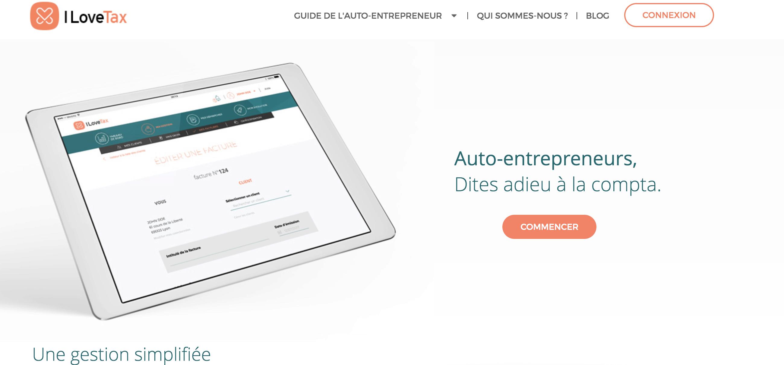 logiciel facturation micro entreprise gratuit ILoveTax