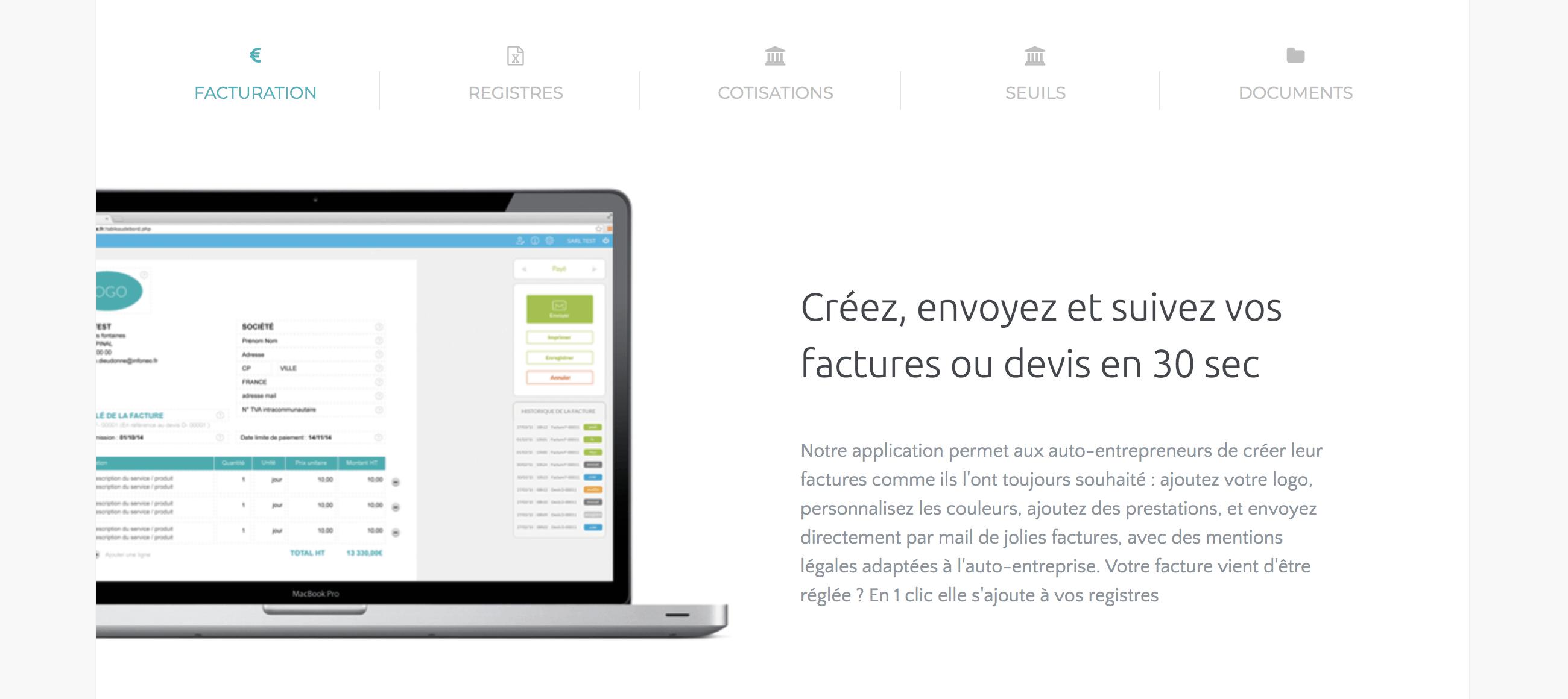 logiciel facturation micro-entreprise gratuit Tiime AE