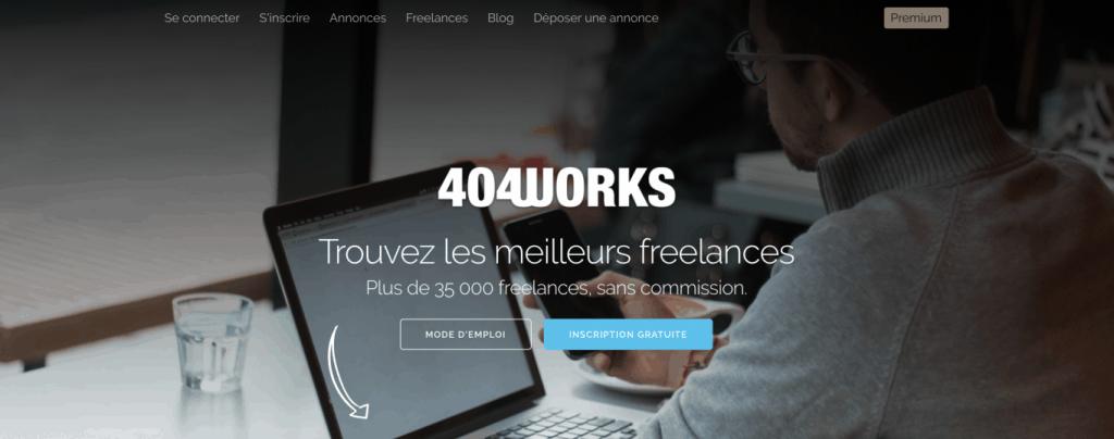 plateforme freelance 404works