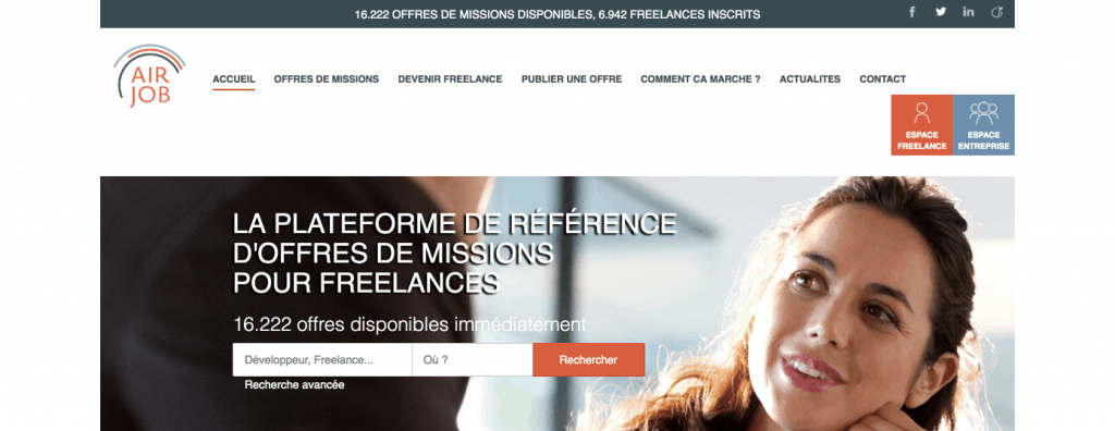 plateforme freelance airjob
