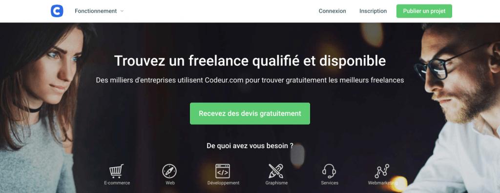 plateforme freelance codeur.com