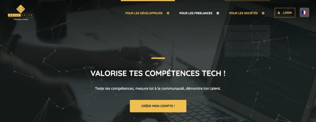 plateforme freelance developpeur skillvalue