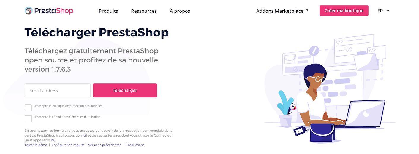 PrestaShop accueil