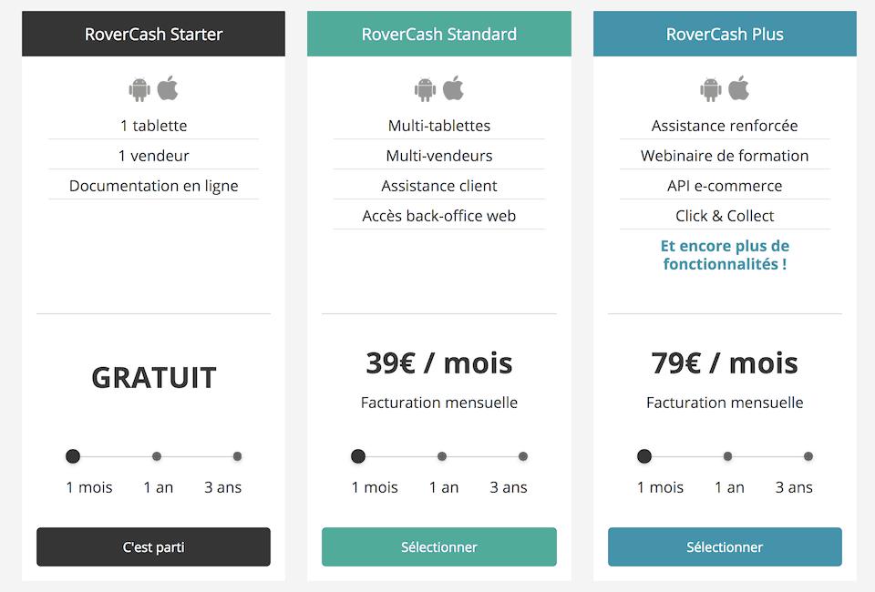 rovercash tarif abonnement
