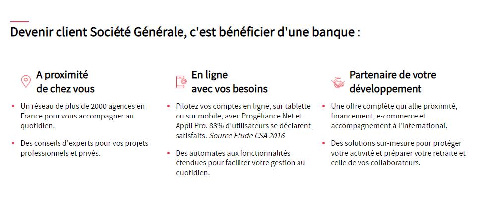 Société Générale Pro devenir client
