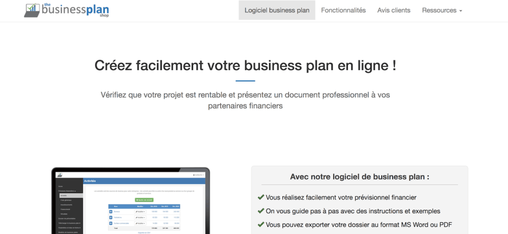 TheBusinessPlanShop business plan en ligne