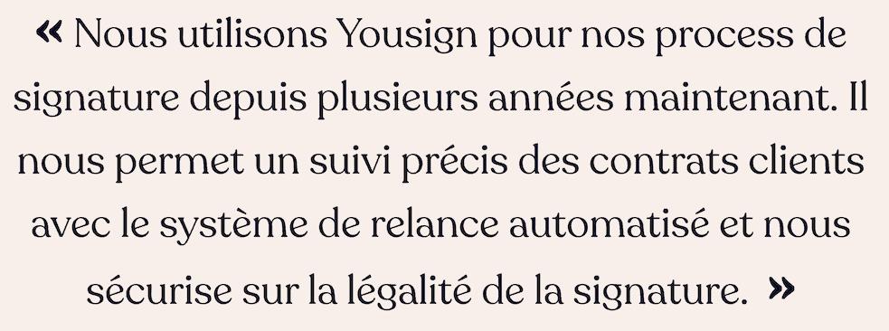 Yousign avis client